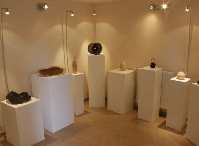 Exhibition of sculptures, turned wood, one off pieces by Pascal Oudet in Goncelin, France