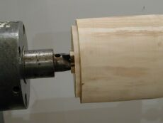 dovetail spigot for the chuck